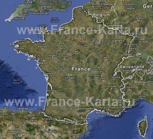 Интерактивная карта Франции