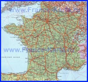 Карта Франции на русском языке